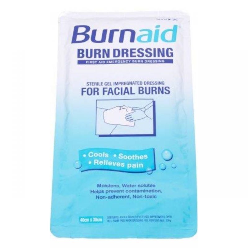 Brandwund Gesichtsmaske