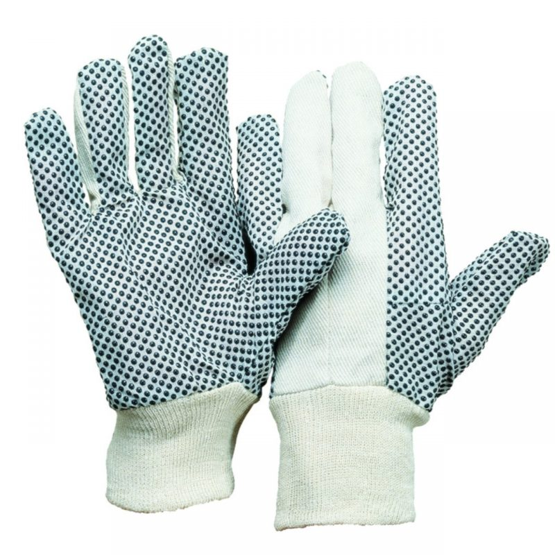 Baumwoll Köperhandschuhe PVC