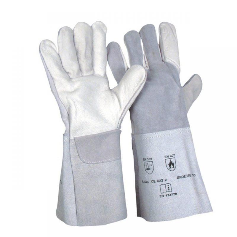 Schweißer Handschuh Kombi Rindnarben und Spaltleder