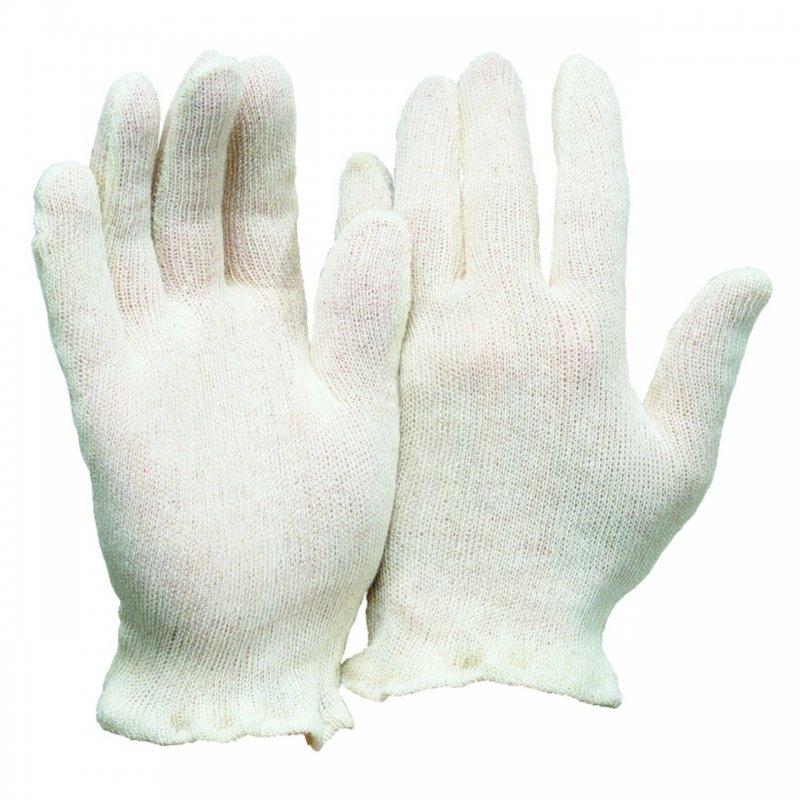 Baumwoll Trikot Handschuh rohweiß Herren