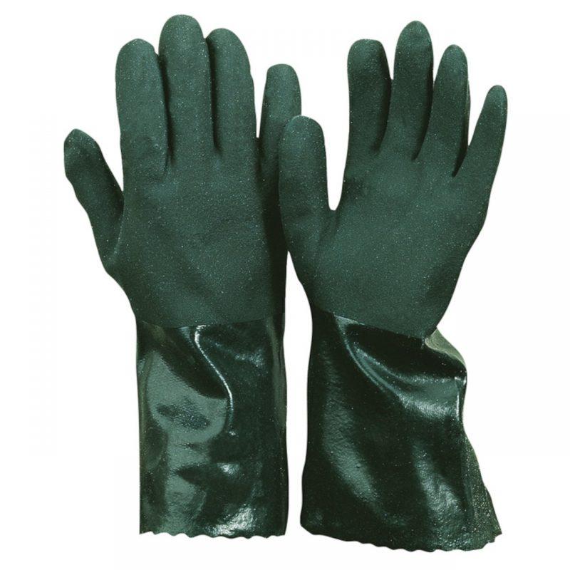 Chemikalien Schutzhandschuh PVC grün