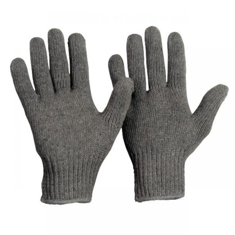 Baumwoll Strickhandschuh Damen ohne Noppen