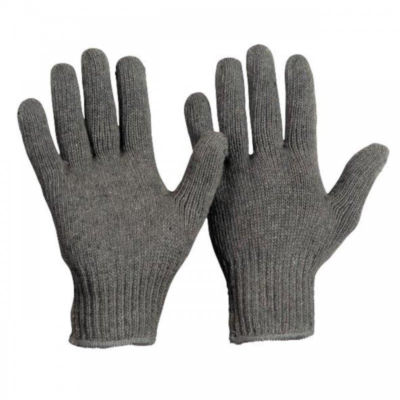 Baumwoll Strickhandschuh Herren ohne Noppen