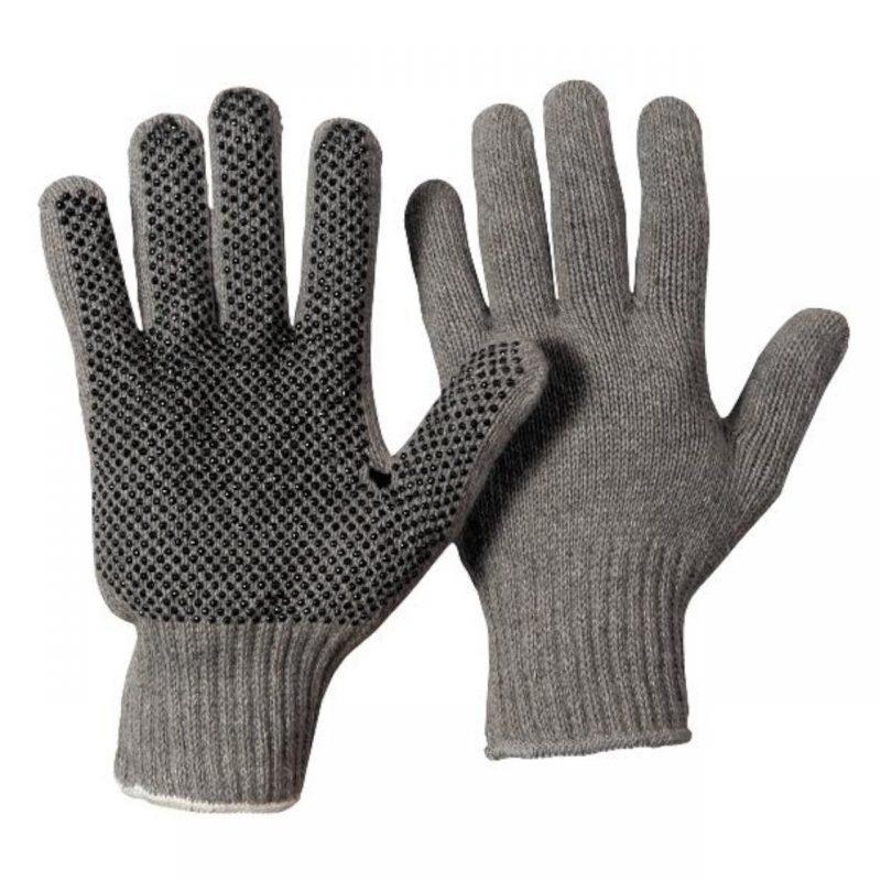 Baumwoll Strickhandschuh Damen einseitig Noppen