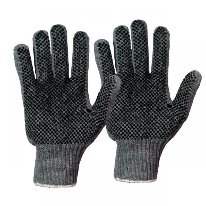 Baumwoll Strickhandschuh Damen beidseitige Noppen