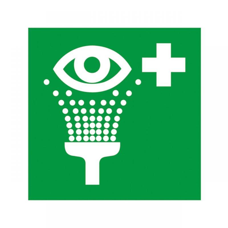 Augenspüleinrichtung Aufkleber