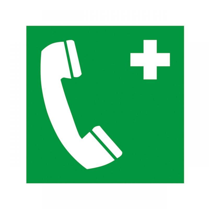 Notruftelefon Aufkleber