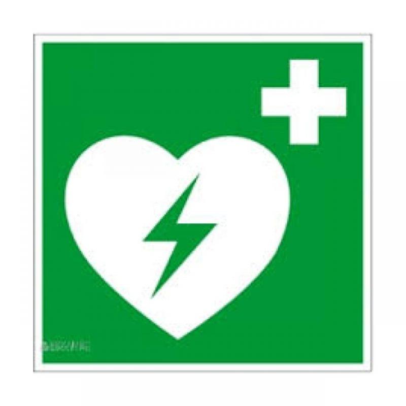 Defibrillator Aufkleber