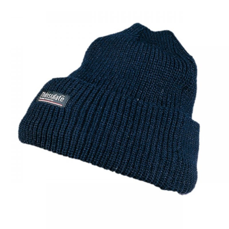 Winterstrickmütze mit Thinsulate Futter blau