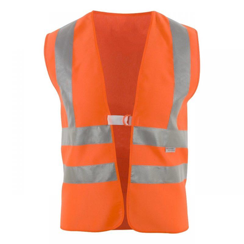 Warnschutzweste Polyester orange mit Schulterreflexstreifen