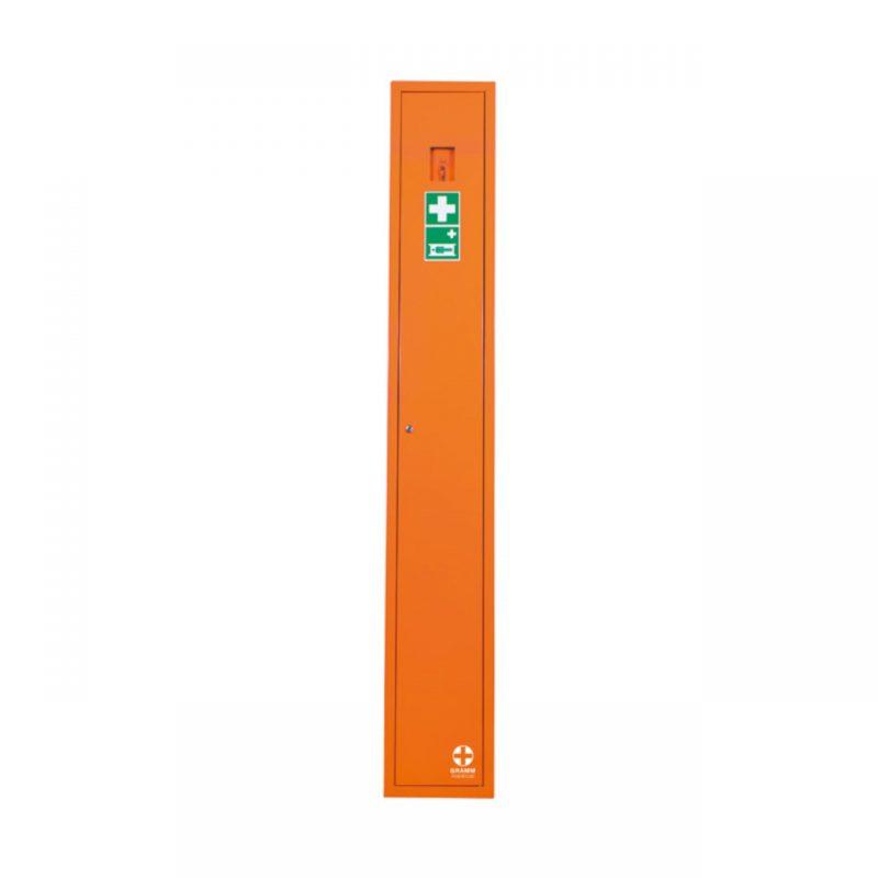 Sanitätsschrank N orange mit Füllsortiment