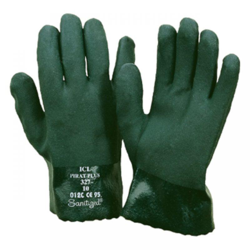 Chemikalienschutzhandschuh PVC grün