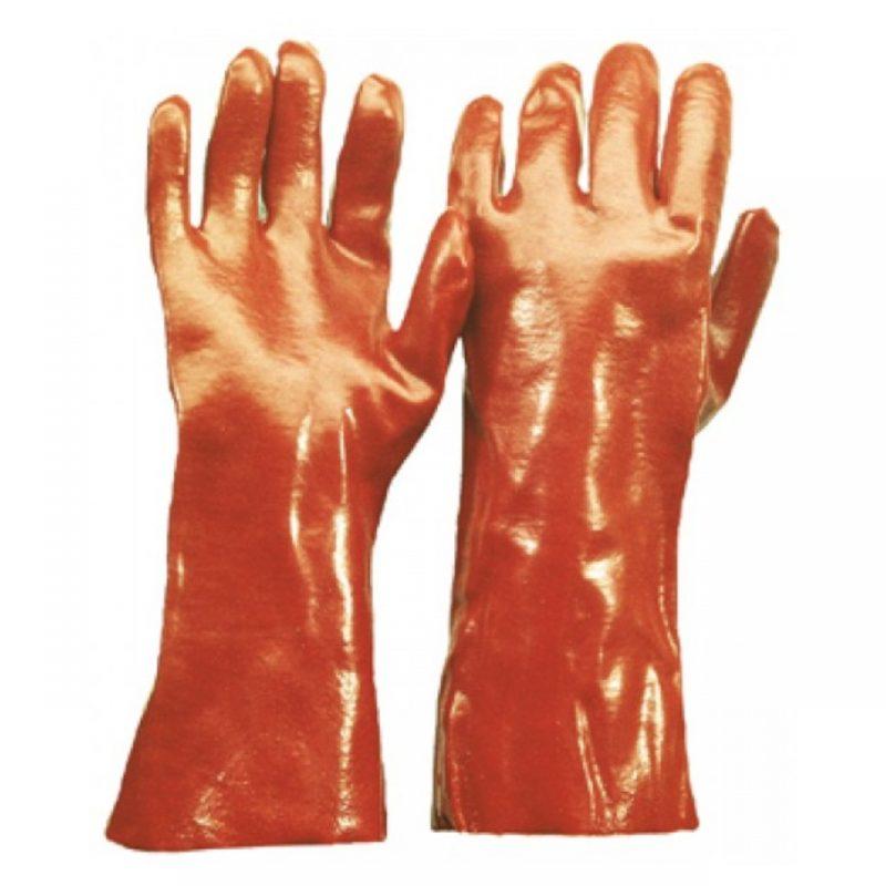 Chemikalienschutzhandschuhe PVC rotbraun