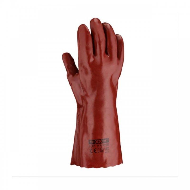 PVC Handschuh rotbraun 35 cm