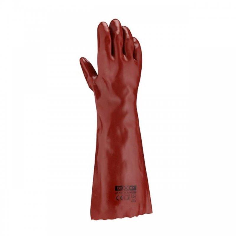 PVC Handschuh rotbraun 45 cm