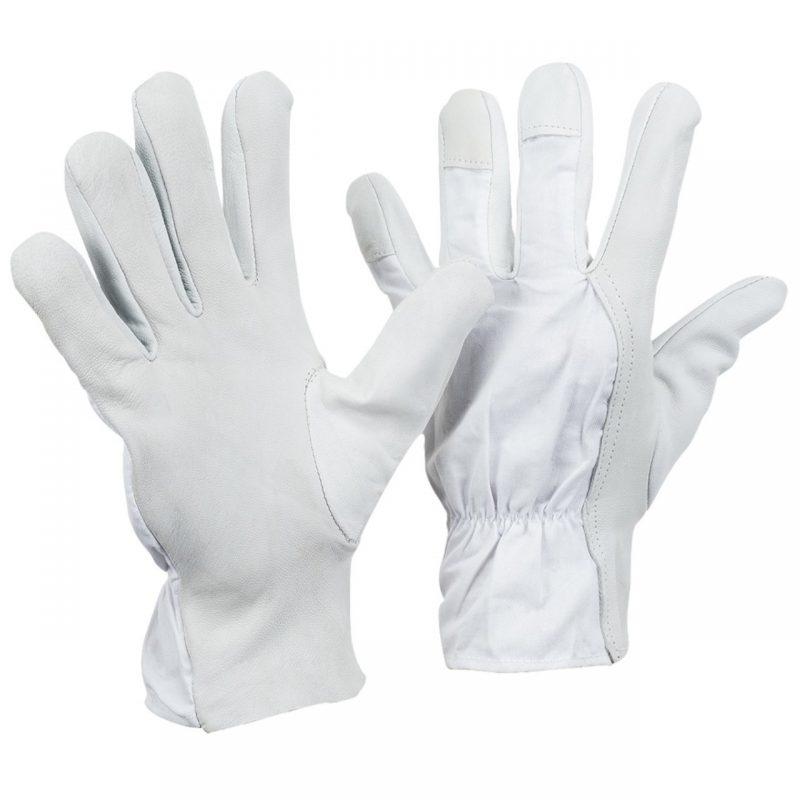 Nappaleder Handschuh mit Köperrücken