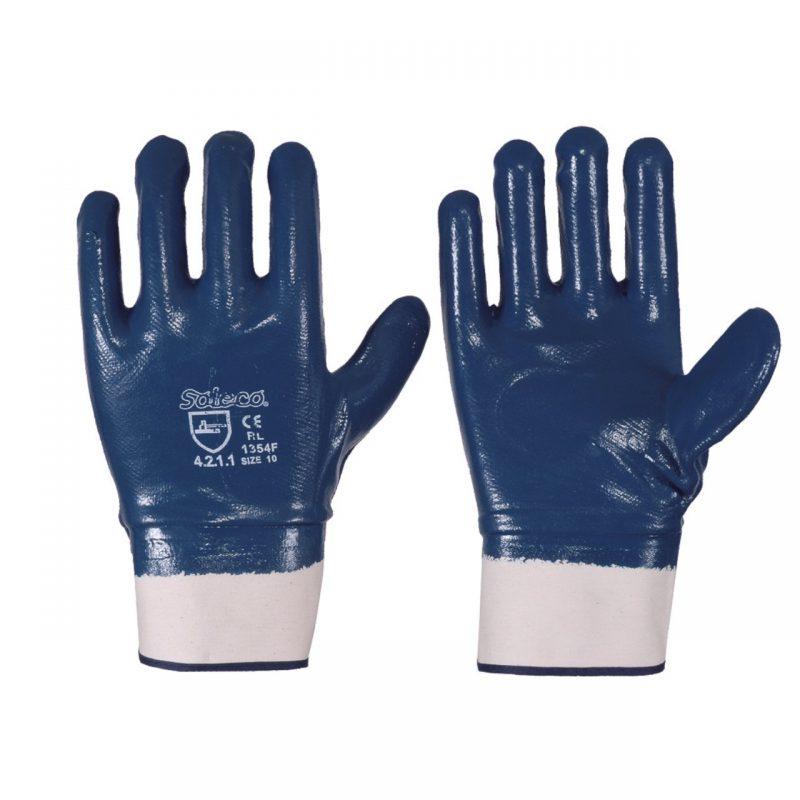 Nitril Handschuh blau vollbeschichtet