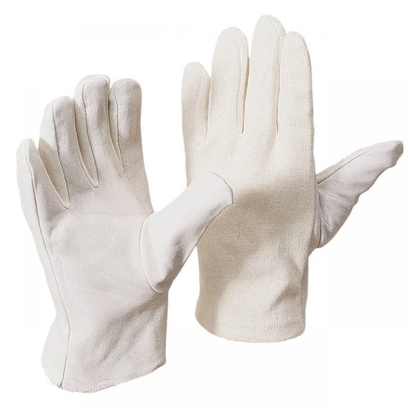 Nappaleder Handschuh mit Baumwoll Trikotrücken