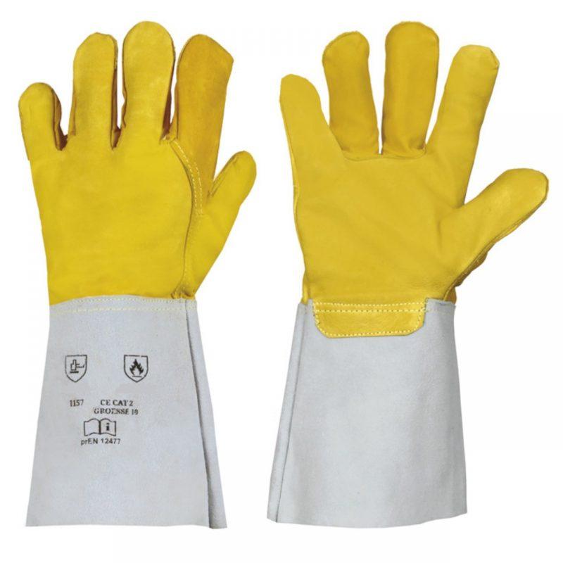 Schweißerhandschuh Nappaleder gelb