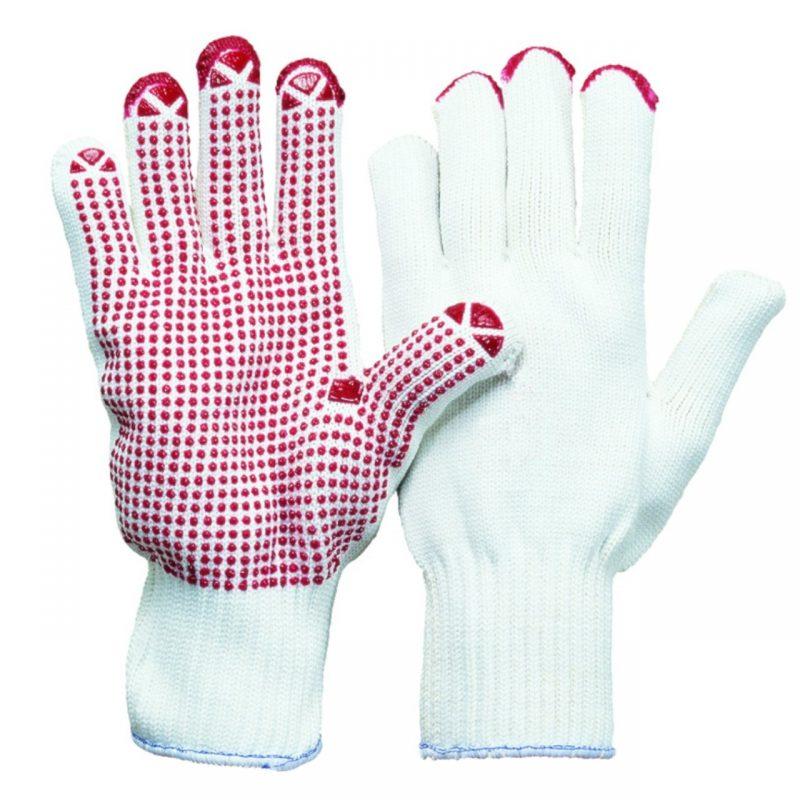 Magic red Strickhandschuh mit Noppen