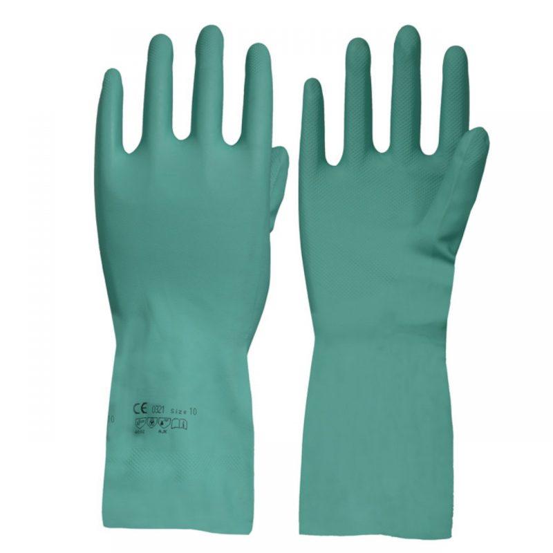 Nitril Chemikalien Schutzhandschuh mit Waffelmuster