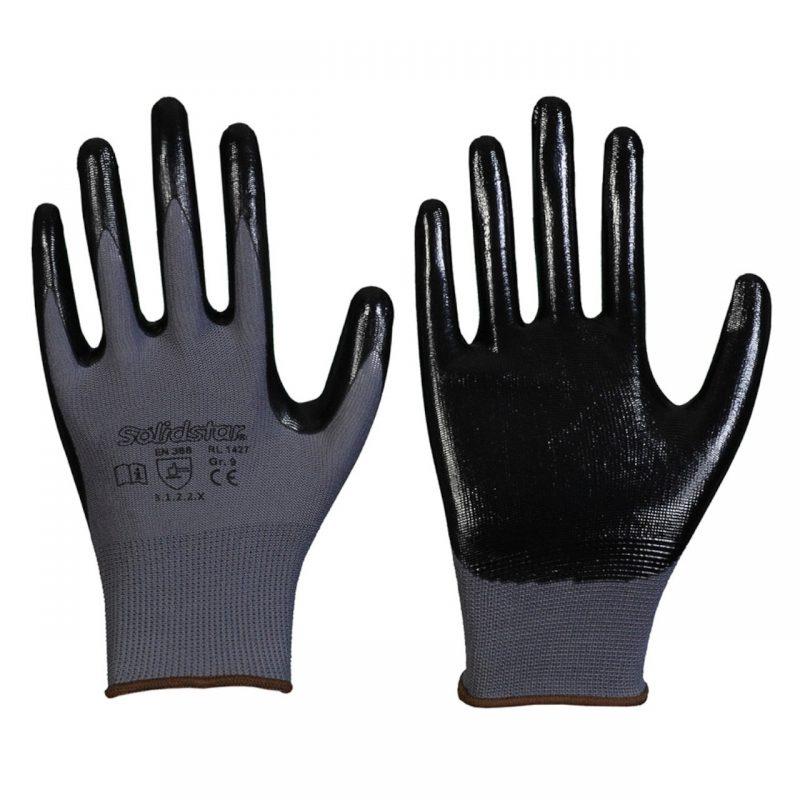 Nylon Feinstrick Handschuh mit Nitril Beschichtung
