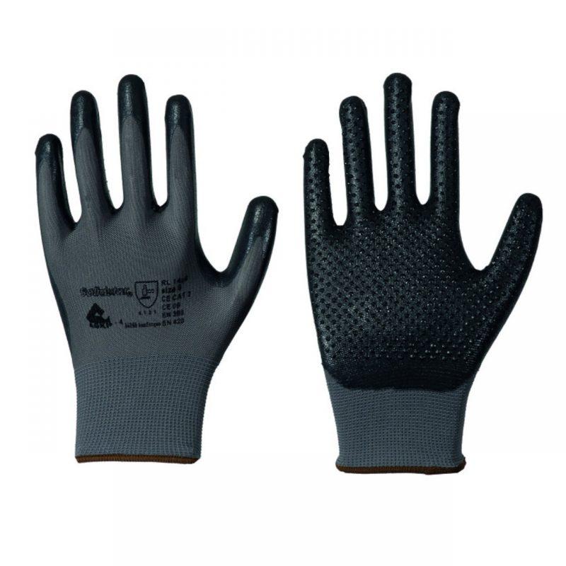 Nylon Feinstrick Handschuh mit Nitril Schaum Beschichtung genoppt
