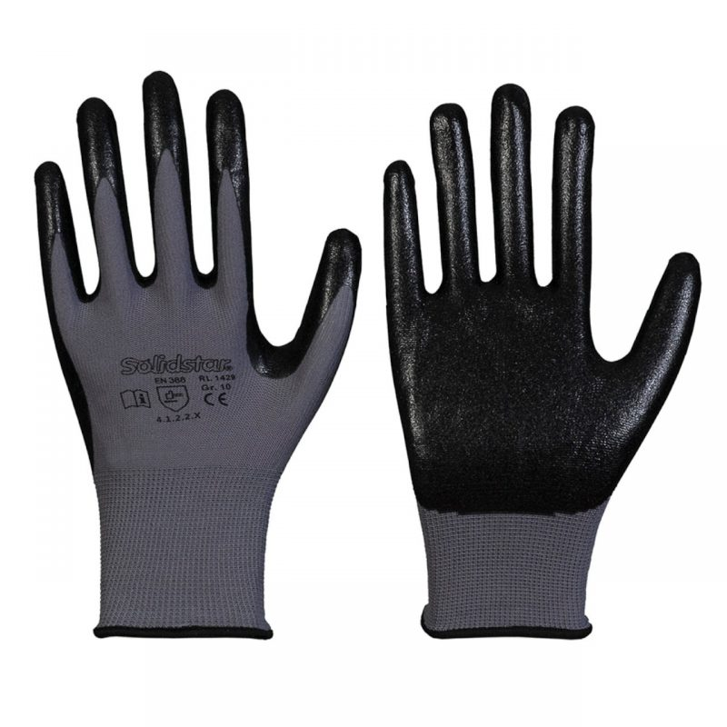Nylon Feinstrick Handschuh mit Nitril Schaum Beschichtung