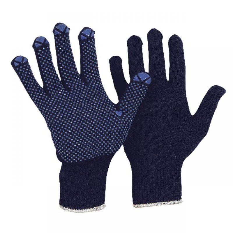 Feinstrick Montage Handschuh blau