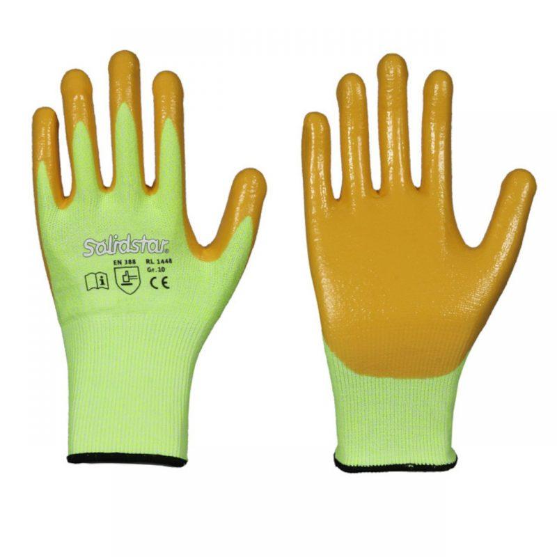 Schnittschutz Handschuh Neon