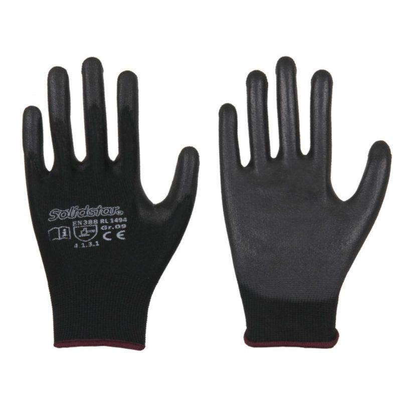 Feinstrick Handschuh mit PU Beschichtung