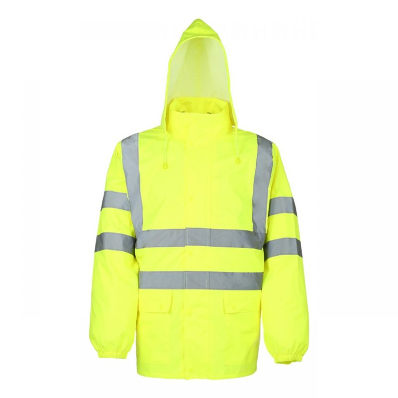 Warnschutz Regenjacke neongelb