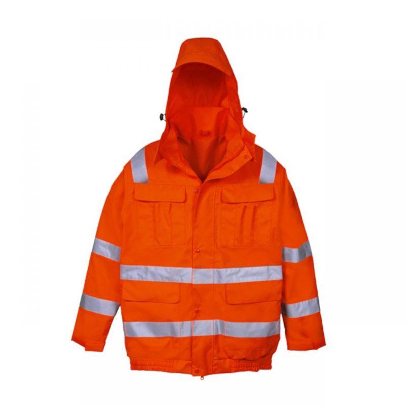 Warnschutz Regenjacke Connect Out orange