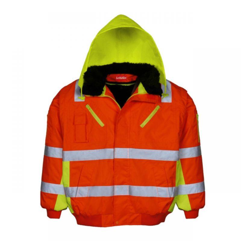 Multifunktionale Pilotenwarnschutzjacke orange