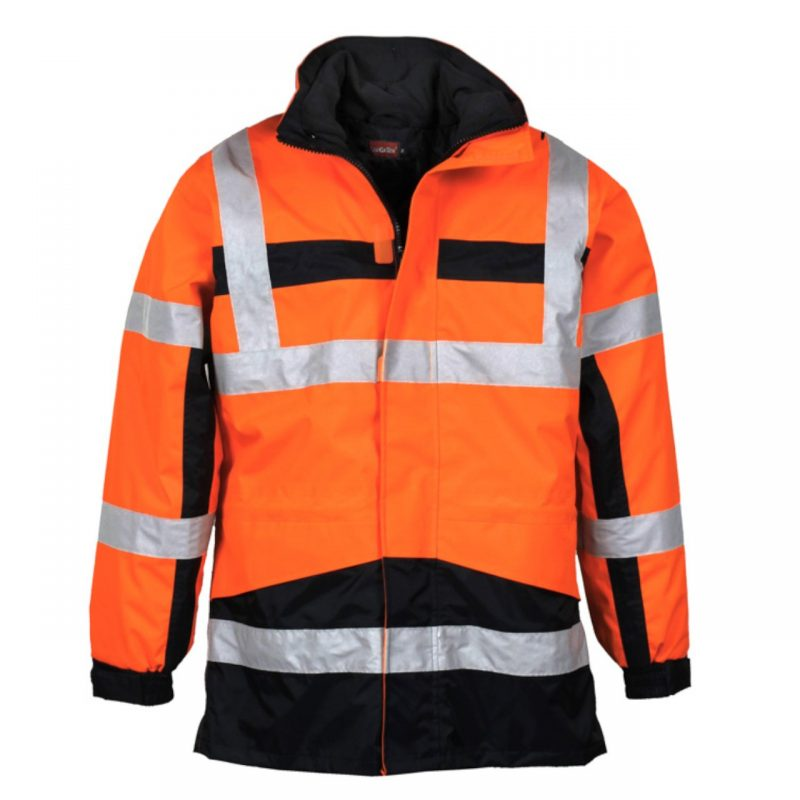 4 in 1 Warnschutzparka Stonefield orange