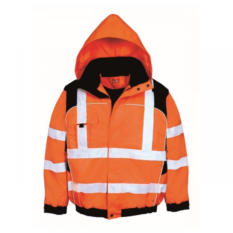 Warnschutzparka orange schwarz