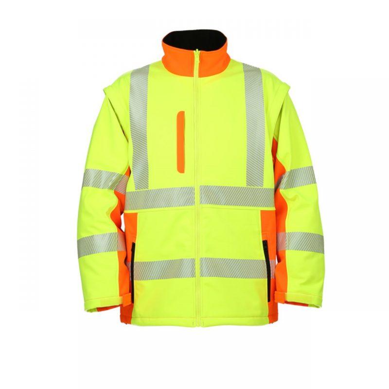 Softshell Warnschutzjacke neongelb/warnorange