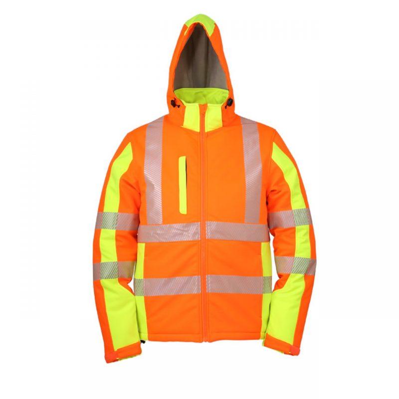 Winter Softshell Warnschutzjacke warnorange