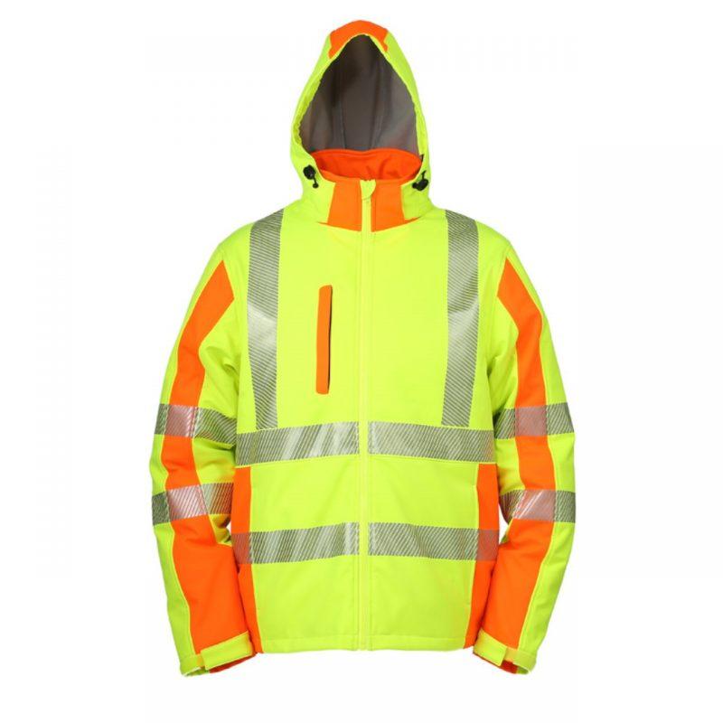 Winter Softshell Warnschutzjacke neongelb/warnorange