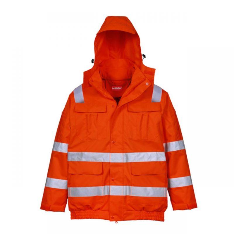 3 in 1 Warnschutzjacke Connect orange