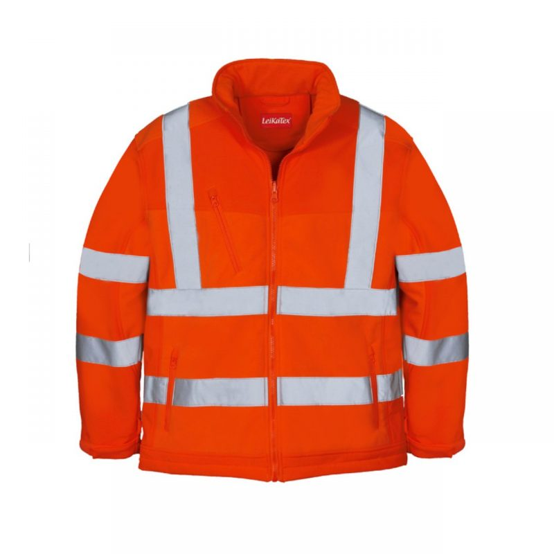 Softshell Fleece Warnschutzjacke orange