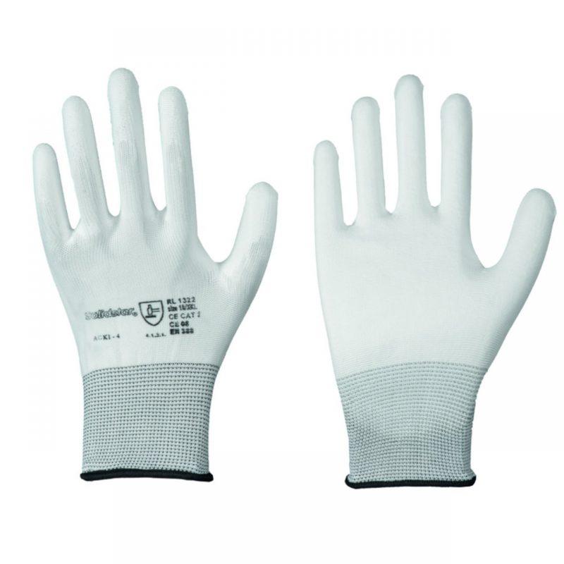 Nylon-Feinstrick Handschuh mit PU Beschichtung