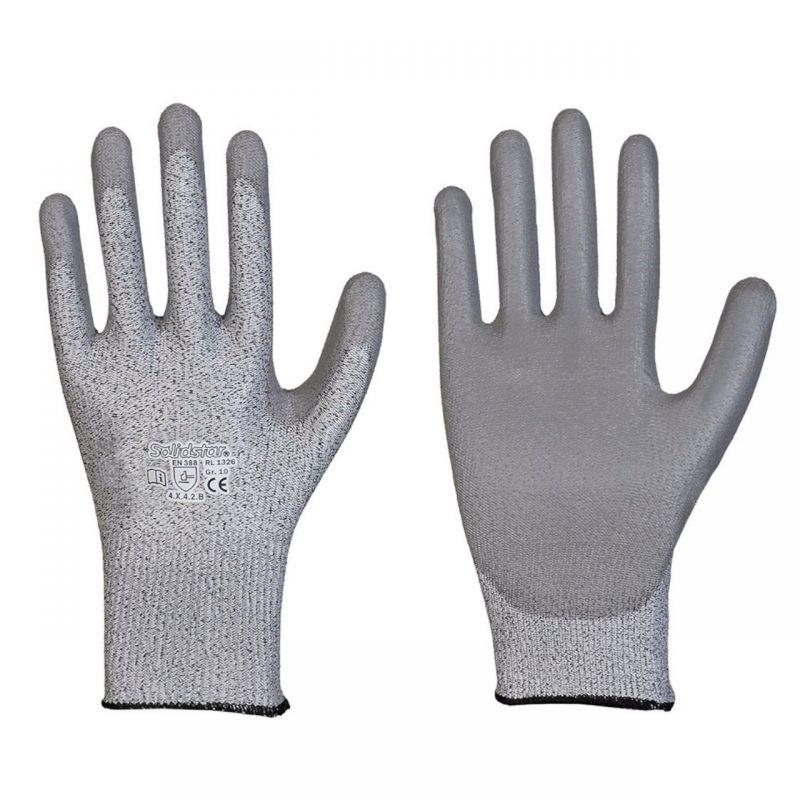Feinstrick Schnittschutzhandschuh mit PU Beschichtung