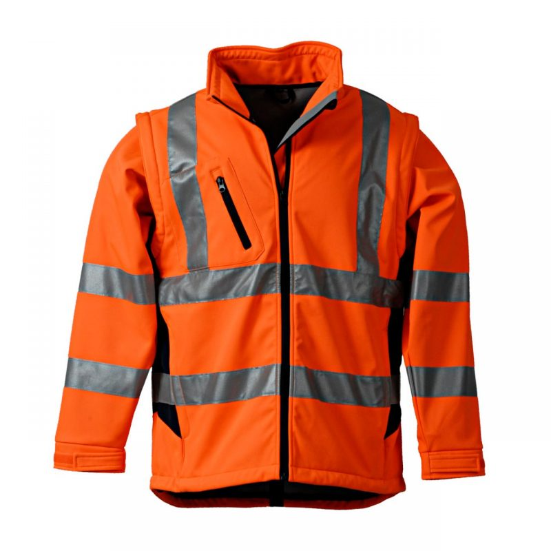 Softshell Warnschutzjacke orange