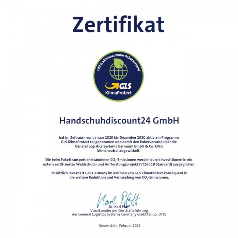 Zertifikat GLS