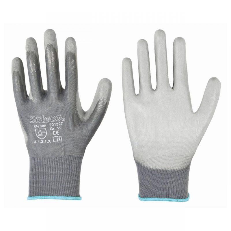 Polyester-Feinstrick-Handschuh mit PU-