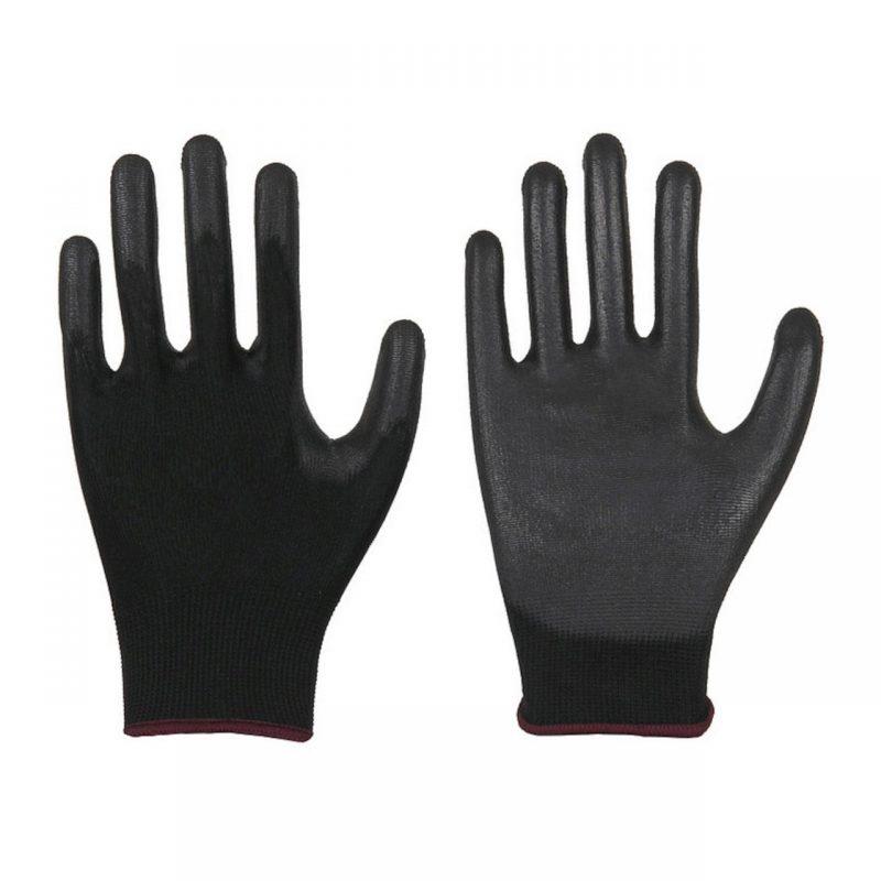 Polyester Feinstrick Handschuh mit PU