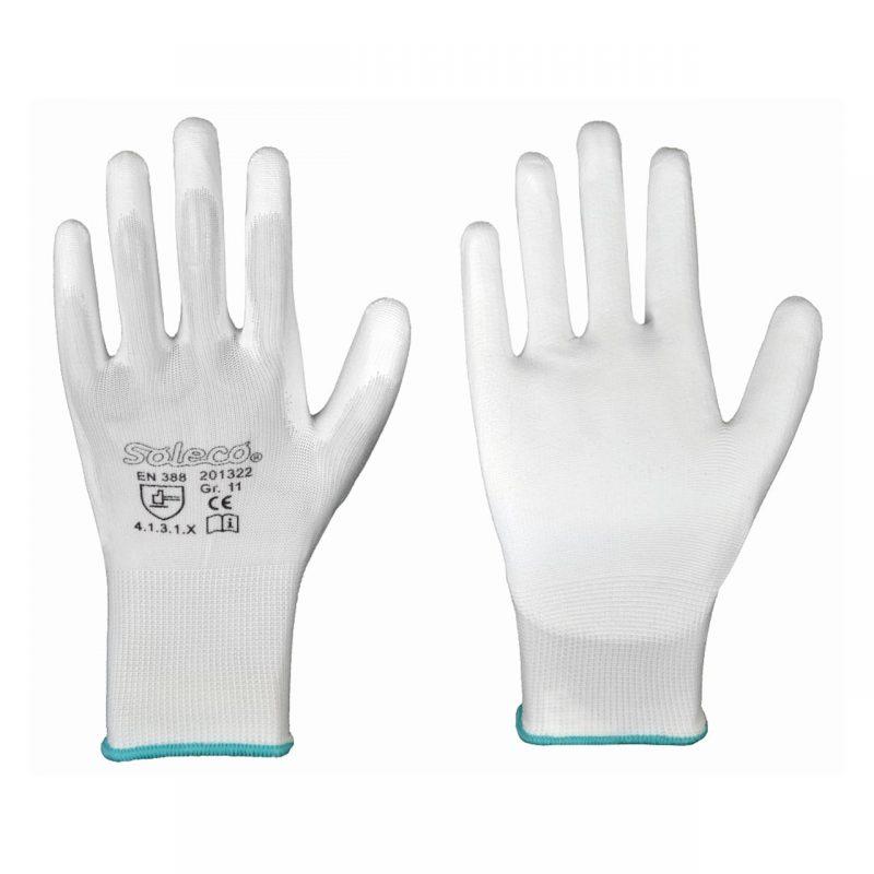 Polyester Feinstrick-Handschuh mit PU
